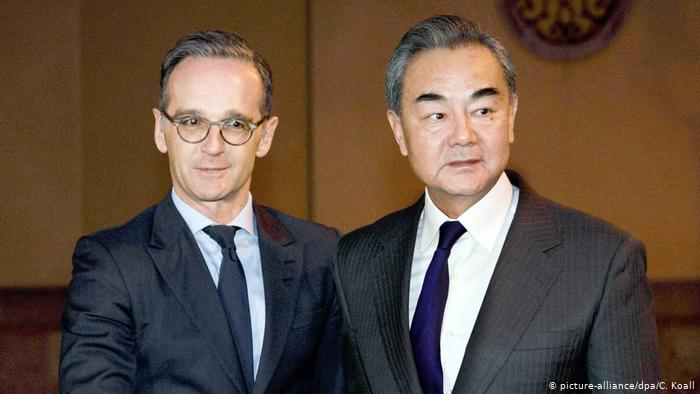 Chinese Foreign Minister Wang Yi visited his German counterpart Heiko Maas in Berlin