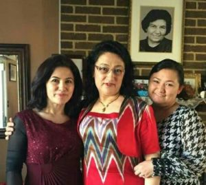 Dr. Gulshan Abbas with her sister Rushan Abbas and her daughter