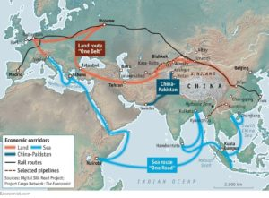 China's Belt and Road Initiative East Turkistan Map