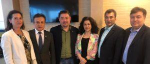 Rushan Abbas with the leadership of the Uyghur community in diaspora