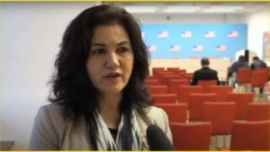 Rushan Abbas, activist, talks about the human rights situation for Uyghurs in China (Photo: Screengrab from USEmbassyVienna's channel on YouTube)