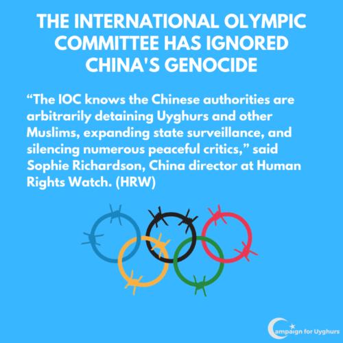 3 IOC is ignoring China's genocide