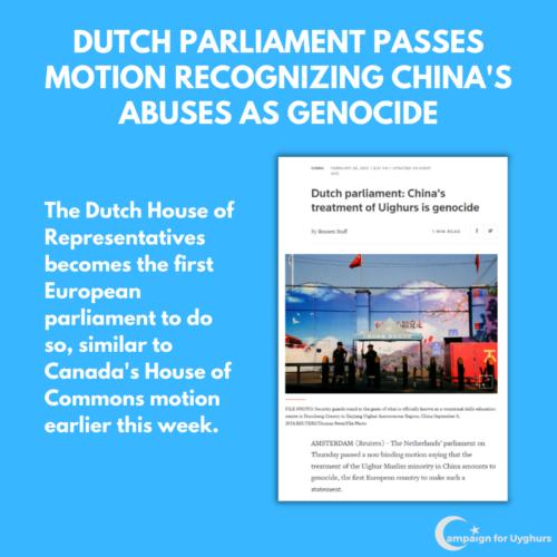 5 Dutch Parliament passes motion