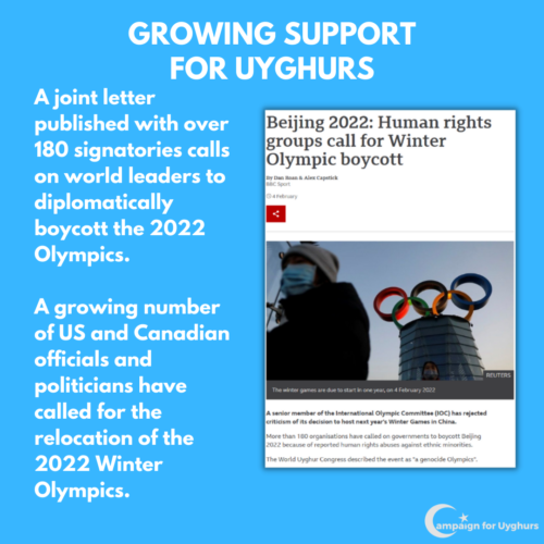6 Growing support for Uyghurs