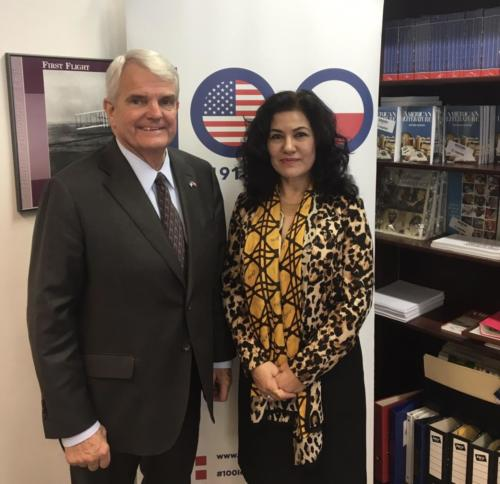 US Ambassador to the Czech Republic, Amb. King in Prague May 30, 2019
